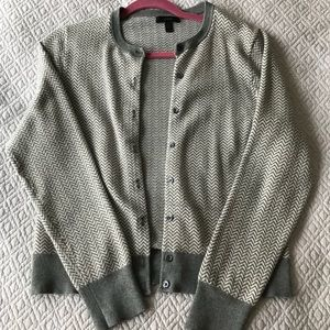 J.Crew Cotton Jackie Cardigan in Herringbone